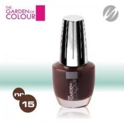 Lac de unghii - nr.15 - Ciocolata inchis - Dark Chocolate - The garden of color