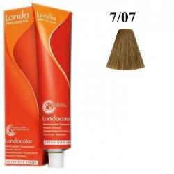 7/07- Blond Mediu Natural Castaniu - LondaColor - Vopsea fara amoniac - Nuantator - 60 ml