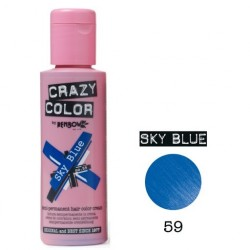 Nr. 59. - Sky Blue - Crazy Color - Vopsea de păr semipermanentă - 100 ml